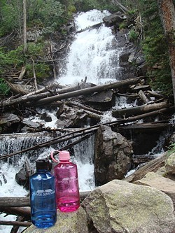 wwb-hills-waterfall in rocky mountain national park
